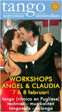 Workshops Angel & Claudia za 7 en zo 8 februari