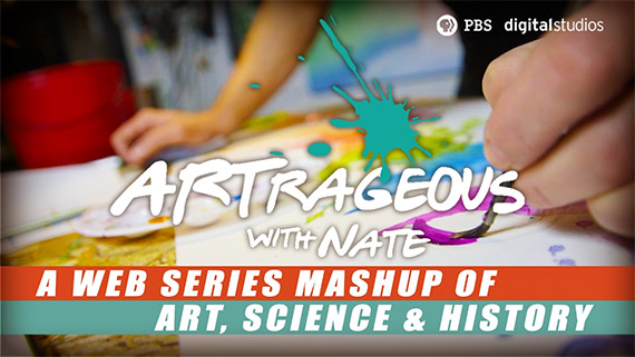 Artrageous with Nate, a web series mashup of art, science and history.