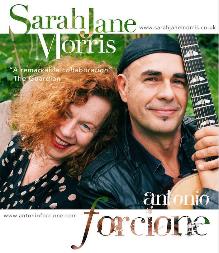 Sarah Jane Morris and Antonio Forcione - collaboration poster