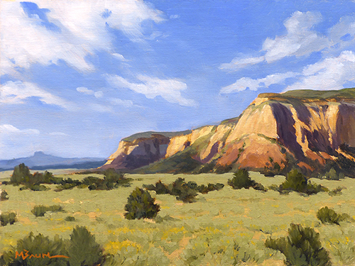 """""""Echo Cliffs"""" Northern New Mexico,  copyright Michael Baum 