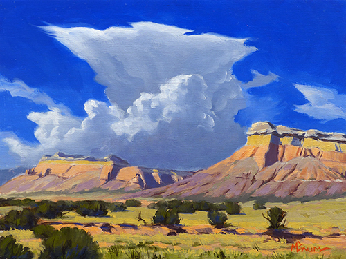"""Over the Rainbow"" colorful cliffs, New Mexico,  copyright Michael Baum 