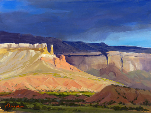 """Piedra Lumbre"" Ghost Ranch, Georgia O'Keeffe, Abiquiu, New Mexico. copyright Michael Baum 