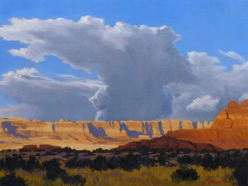 """Storm Building over Canyon Country"" A storm builds over the cliffs of Canyonlands National Park. copyright Michael Baum 