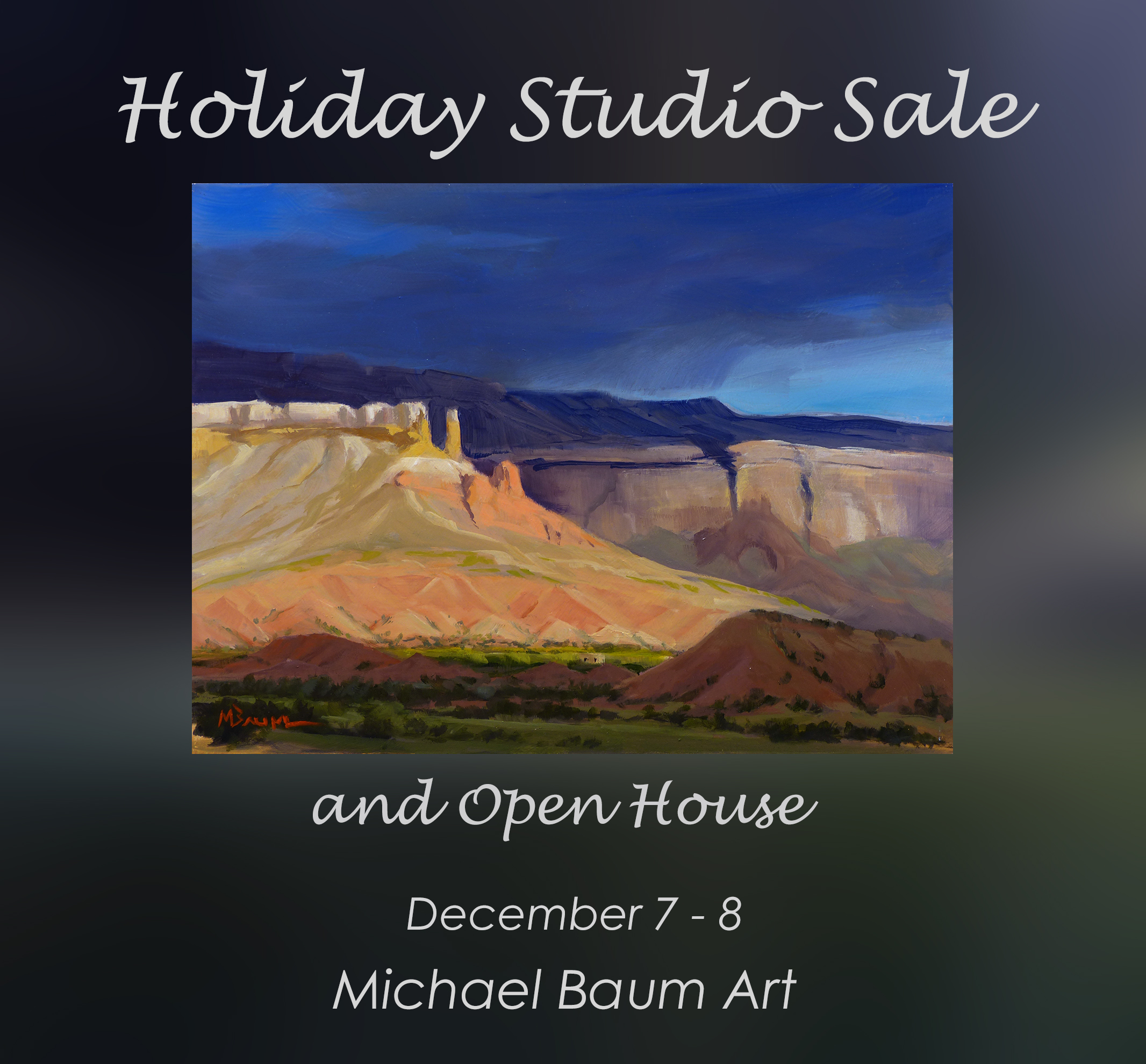 Michael Baum Art Holiday Studio Sale and Open House