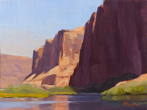 """Glen Canyon Reflections"" copyright Michael Baum Paintings of the Southwest"
