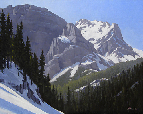 """""""Winter in the Rockies""""  copyright Michael Reed Baum Paintings of the western and southwestern landscape"""