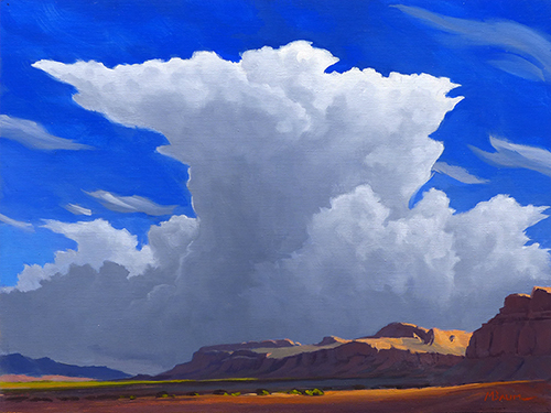 """""""Thunder over the Canyons"""" Canyons, cliffs, Clouds, sky, Moab, Utah copyright Michael Baum 