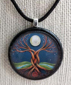 Moon Tree Pendant by CJ Shelton