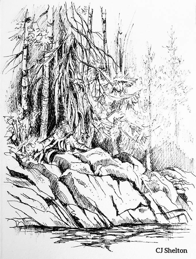At Ragged Falls by CJ Shelton