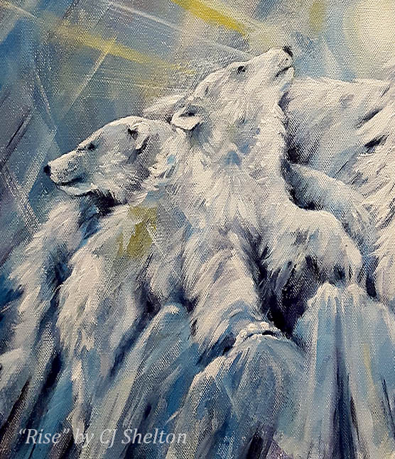 Polar Bear Cubs by CJ Shelton