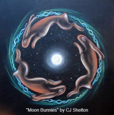 Moon Bunnies by CJ Shelton
