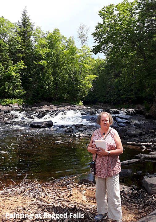 CJ at Ragged Falls