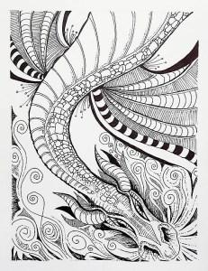 Zen Dragon Doodle
