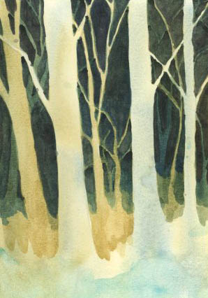 Negative Technique Trees in Watercolour