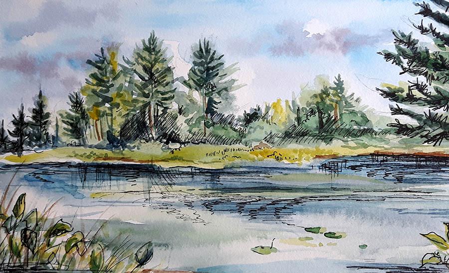 Koshlong Lake by CJ Shelton