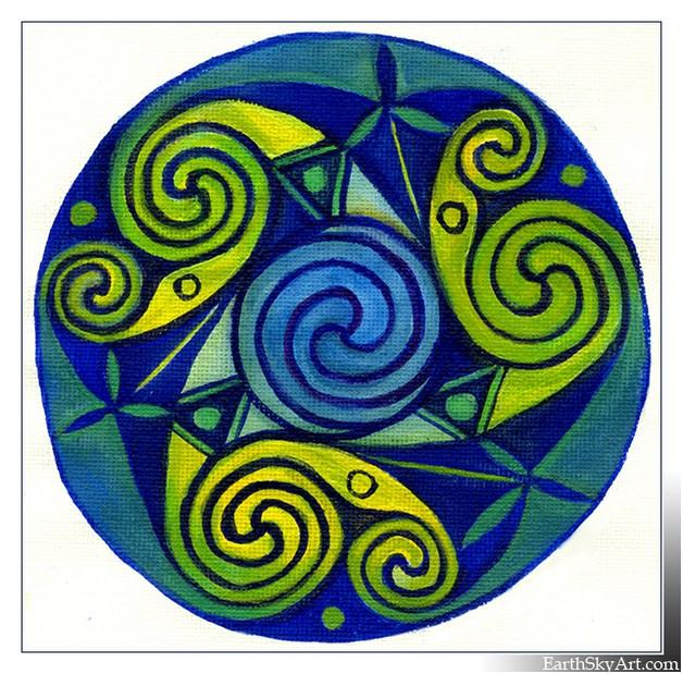 Celtic Triskele Mandala