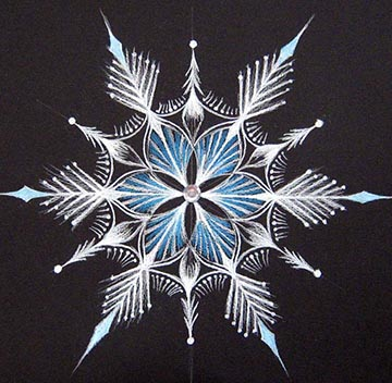 Snow Crystal Mandala by CJ Shelton