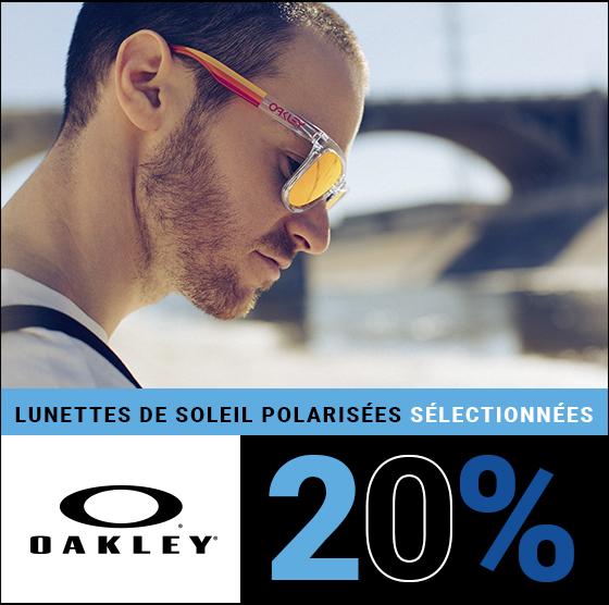 20% de rabais sur les lunettes de soleil Oakley polarisées sélectionnées