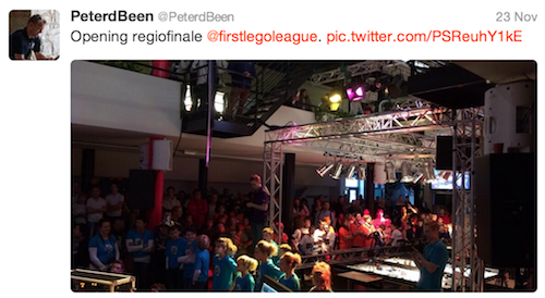 @Peterdbeen: Opening regiofinale @firstlegoleague.
