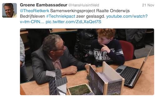 @hanshuisintveld: @TheoRietkerk Samenwerkingsproject Raalte Onderwijs Bedrijfsleven #Techniekpact zeer geslaagd. http://www.youtube.com/watch?v=tm-CRN85KTI … pic.twitter.com/ZdLXaQet7S