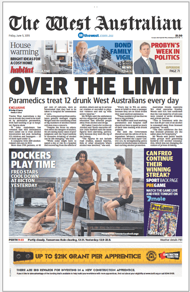 The West Australian - front page