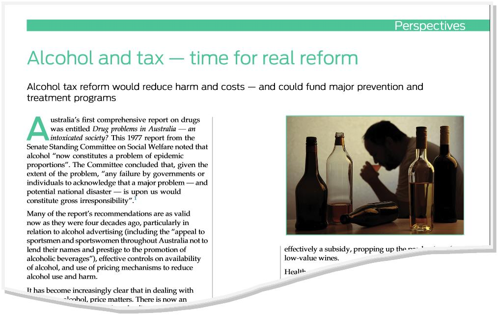 Image of alcohol and tax paper