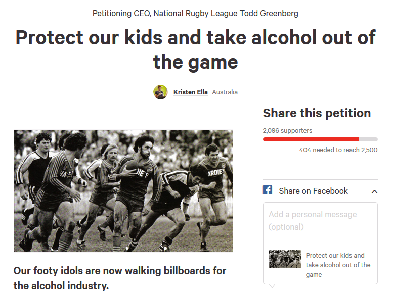 Image of NRL petition