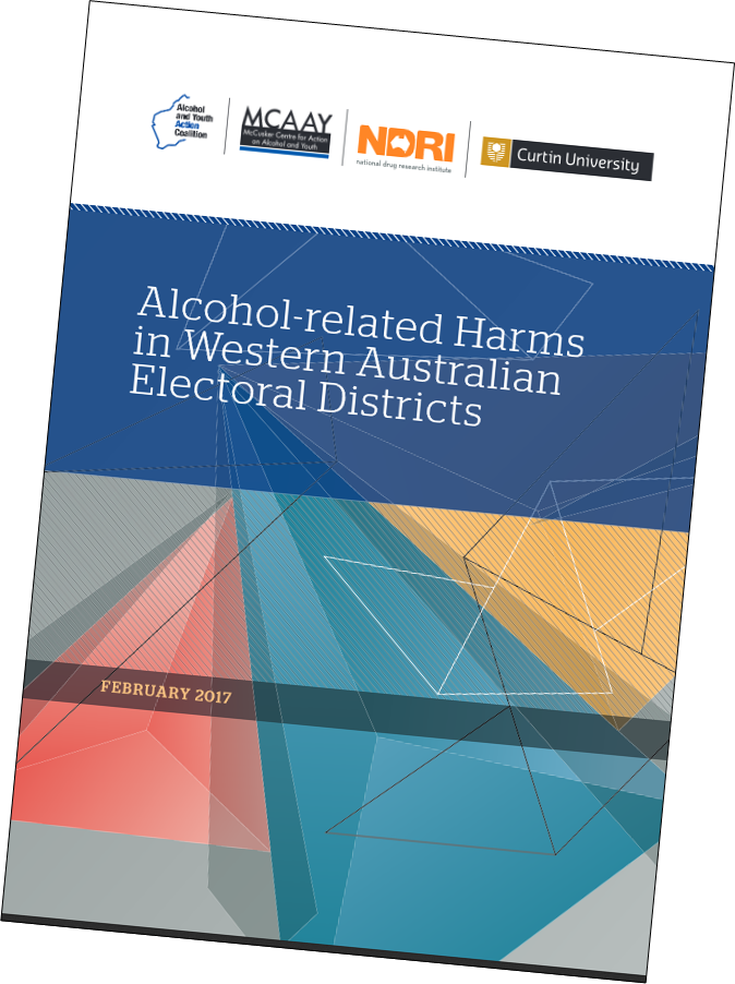 Image of alcohol-related harms report cover