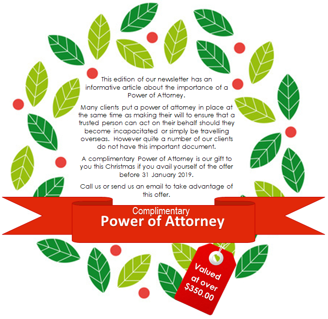 Power of Attorney Offer