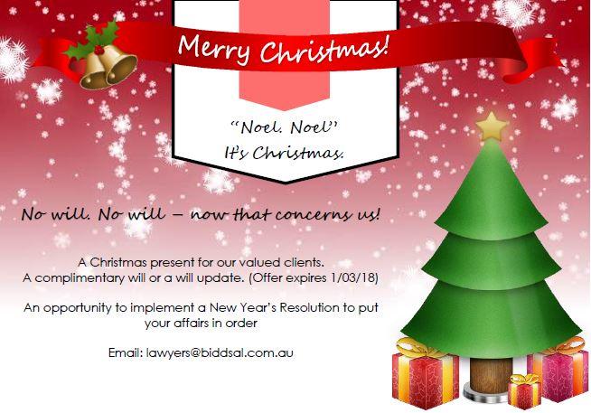 Christmas Will Update