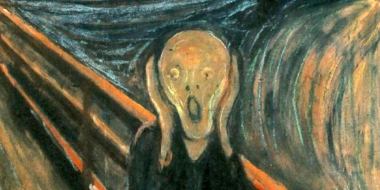Image of the painting entitled The Scream by artist Edvard Munch.