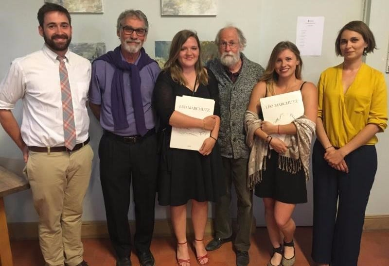 Marchutz students with Professors Alan Roberts and John Gasparach