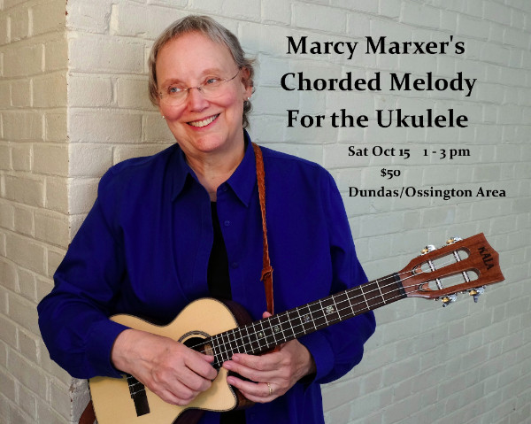 Marcy Marxer Ukulele Workshop Sat Oct 15