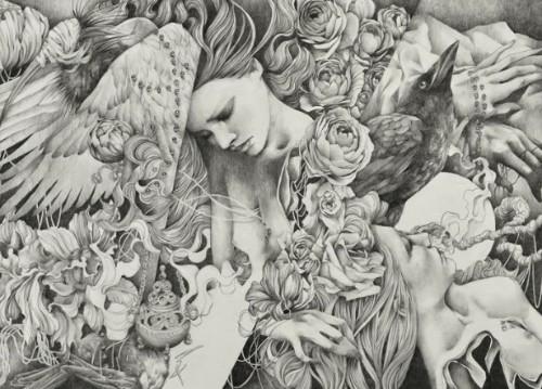 Misturando garotas melancólicas, caveiras e corvos