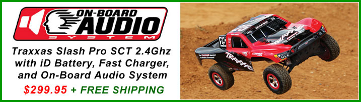 Traxxas Slash Pro 2WD with On Board Audio