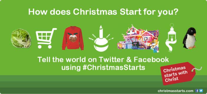 Tell the world on #ChristmasStarts