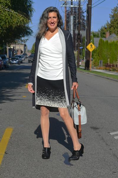organic cotton cardigan skirt
