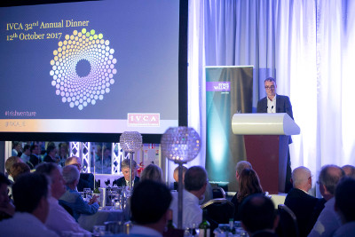 Pictured: Feargal Brennan addressing the IVCA dinner
