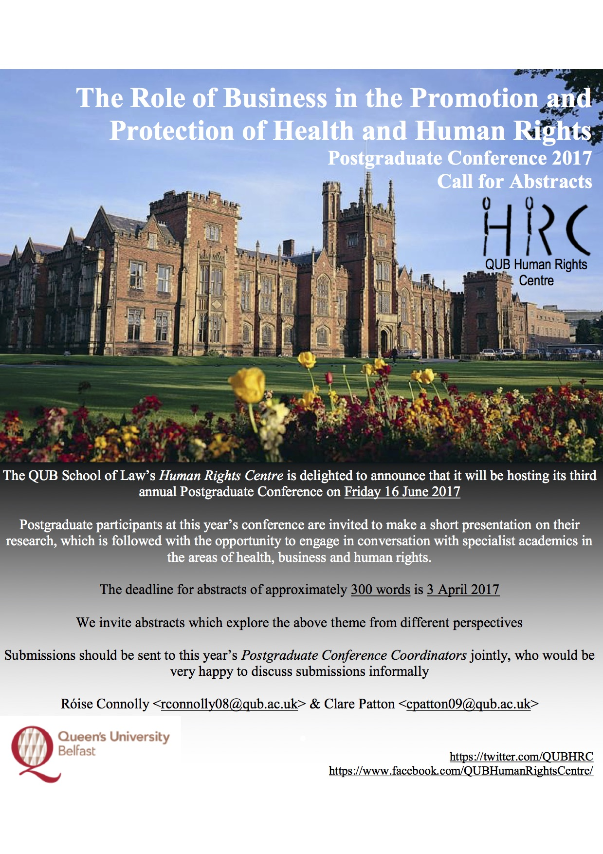Call for Abstracts: The Role of Business in the Promotion and Protection of Health and Human Rights
