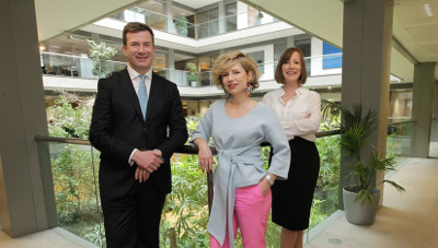 Julian Yarr, managing partner at A&L Goodbody; Sonya Lennon, Dress for Success; and Sinéad Smith, corporate responsibility manager at A&L Goodbody