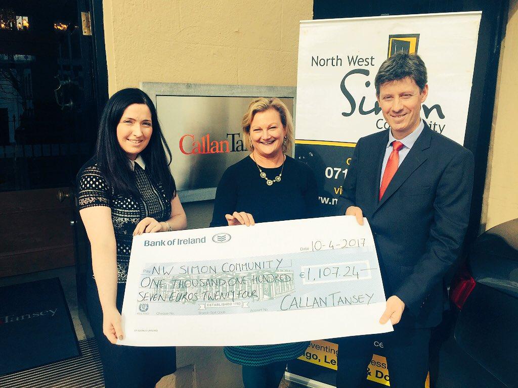 Callan Tansey raises over €1,000 for local homeless