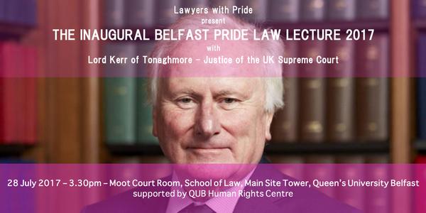 Supreme Court justiceto deliver lecture as part of Belfast Pride Festival