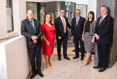 Pictured (l-r): Michael King, Lorraine Keown, Fergal Maguire, Alan McAlister, Rachael Gamble and Michael Black