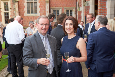 QUB Vice-Chancellor Professor Patrick Johnston and Lisa McLaughlin of Herbert Smith Freehills