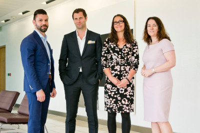 Brian Kuhn, Global Leader and Co-Creator of IBM Watson Legal; Jonathan McCrea, Founder of Whipsmart Media and Technology Journalist and Broadcaster; Rebecca Ryan, Matheson Litigation Partner; and Anne-Marie Bohan, Matheson Technology Partner