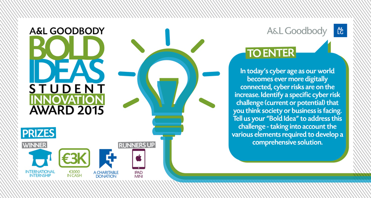 A&L Goodbody's Bold Ideas student competition open for entries