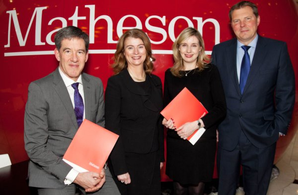 Paul Goulding, Sharon Daly, April McClements, and Paul Lewis at Matheson's Dublin office