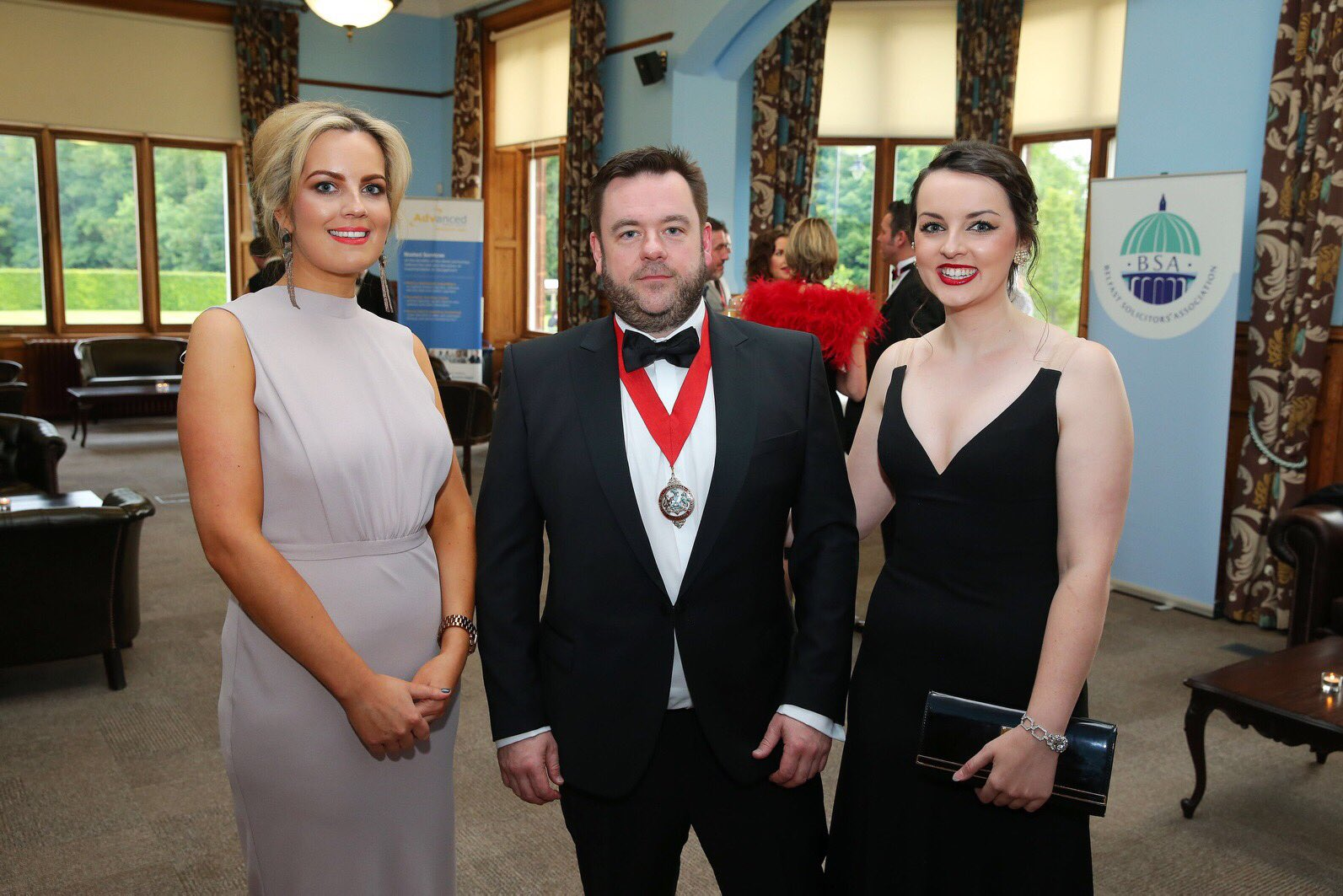 Guests at the gala dinner, including KRW Law's Claire McKeegan (left) and BSA chair Eoghan McKenna (centre)