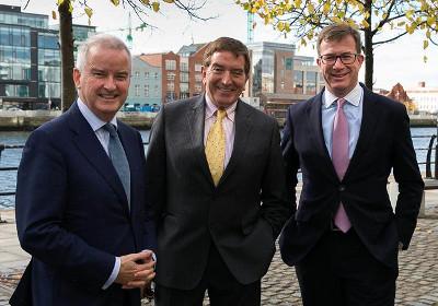 John McGrane, Director General, British Irish Chamber of Commerce, Niall FitzGerald KBE DSA and Julian Yarr, Managing Partner, A&L Goodbody