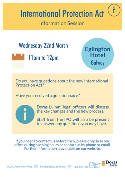 International Protection Act Information Session in Galway